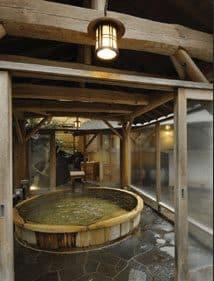 hakone onsen with mt fuji view