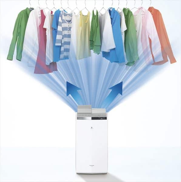 dehumidifiers drying clothes inside