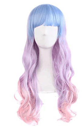 styled cosplay wigs