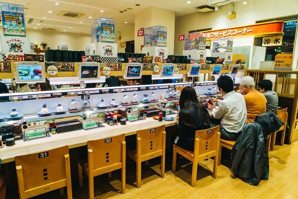 automated sushi restaurant tokyo