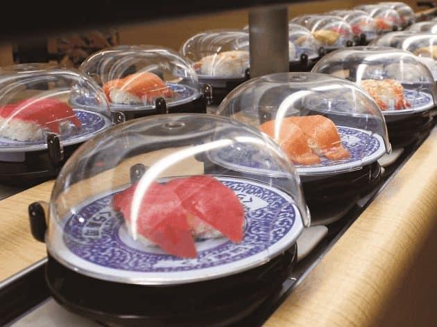 100 yen conveyor belt sushi tokyo