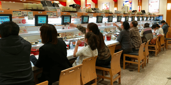 top conveyor belt sushi restaurants in tokyo city