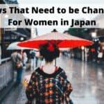 日本の女性のために変更する必要のある法律