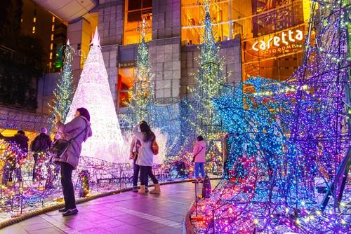 日本聖誕節期間的燈飾