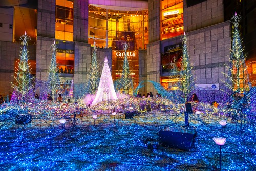 日本的聖誕燈飾