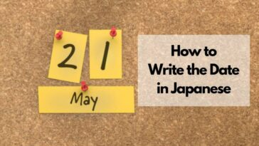 how japanese write dates