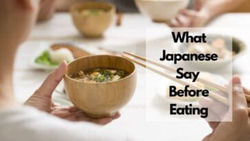 what japanese say before eating