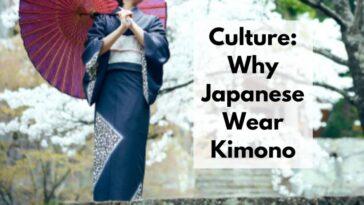 why japanese wear kimono
