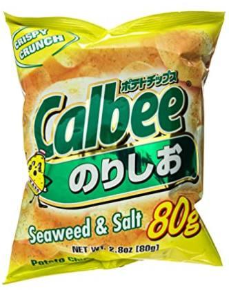 calbee seaweed & salt potato