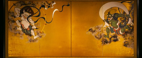雷神と風神の日本の神々